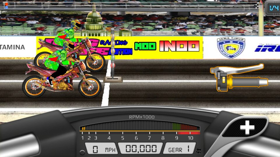 Cara-Memainkan-Game-Drag-Bike-201M-Mod-Apk