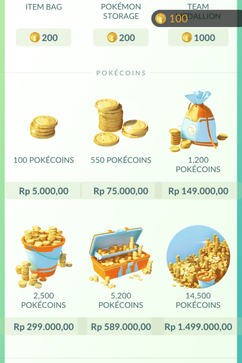 Download Pokemon GO unlimited coins